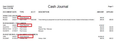 cash journal 1